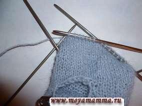 Вязание верха варежки