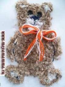 Поделки из шерстяных ниток своими руками Медвежонок