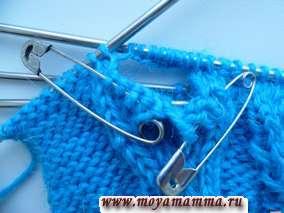Вязание пальца варежки с клином