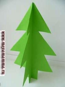 Разворачиваем получившуюся елку. По желанию елку можно украсить разными способами.