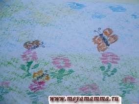 Детские рисунки восковыми мелками на бумаге