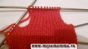 Техника вязания пальца для варежки