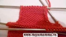 Вязание пальца варежки