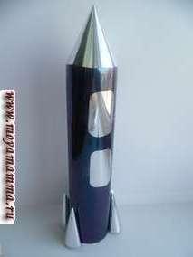 Поделка из бумаги ко дню космонавтики Ракета из металлизированной бумаги