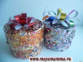 Коробочка для подарка из картона