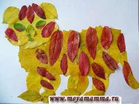 Детские поделки из осенних листьев деревьев