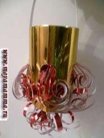 Новогодний фонарик из фольги