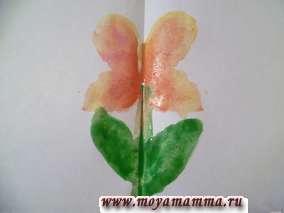 Простые рисунки цветов красками