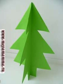 Новогодняя елка из бумаги своими руками. Разворачиваем получившуюся елку. По желанию елку можно украсить разными способами.