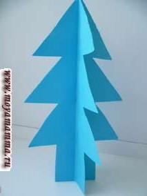 Либо это может быть елка из бумаги голубого цвета .