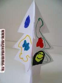Либо это может быть елка, которую можно украсить рисунками при помощи карандашей и фломастеров.