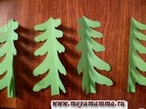 Новогодняя елка из бумаги своими руками