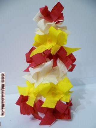 Идеи поделок елок из бумаги