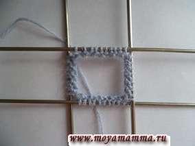 Описание вязания варежки на спицах. Набор петель для варежки