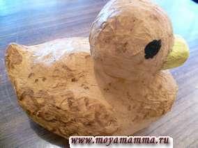 Игрушки из папье маше Уточка