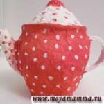 чайник папье - маше