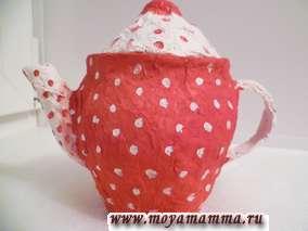 Чайник папье маше своими руками