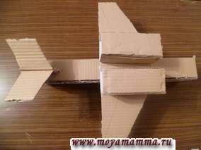 Поделка  военный самолет из картона своими руками