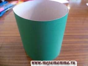 Цилиндр из бумаги для изготовления сумки