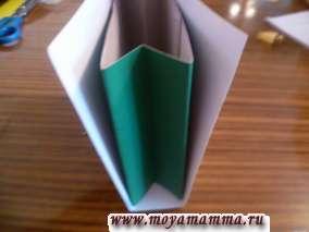 оформление сумки из бумаги