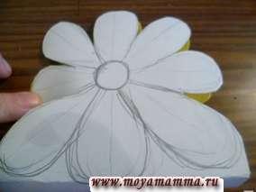 цветы из бумаги для бумажной сумочки