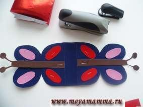 Оформление декоративной части сумки