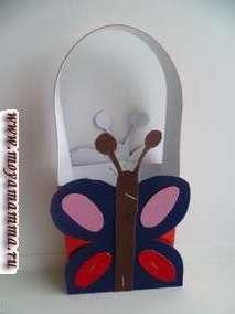 Сумочка бабочка из бумаги
