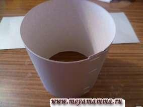 Бумажный цилиндр для изготовления внутренней части сумки
