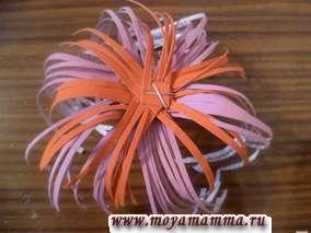 Дооформление махрового цветка