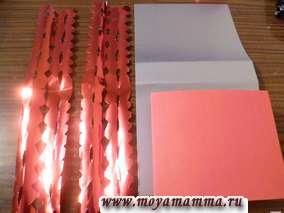 Детали из цветной иметаллизированной бумаги для сумки