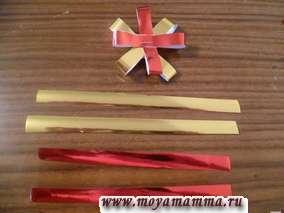 Полоски фольги для изготовления цветов
