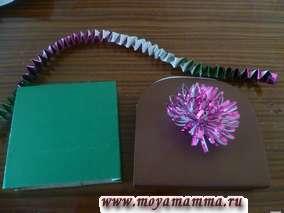 Детали для сумки из цветной бумаги