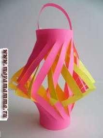 Новогодние фонарики из бумаги