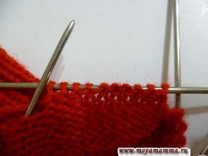 Вязание большого пальца на 2-х спицах вторым способом