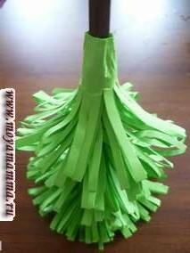 поделка елочка из бумаги - изготовление