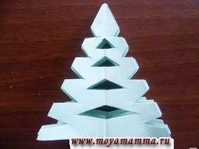 Вырезание новогодней елочки