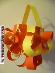 Фонарики из цветной бумаги к Новому году