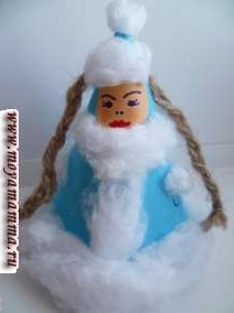 Новогодние поделки из ваты - Снегурочка