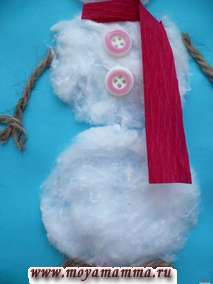 Оформление снеговика