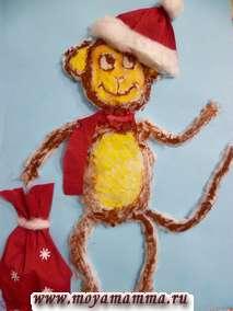 Новогодняя поделка обезьяны своими руками