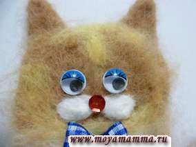 Валяная игрушка котик