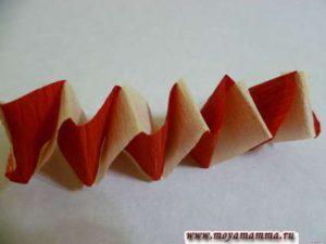 гирлянда из бумаги для елки