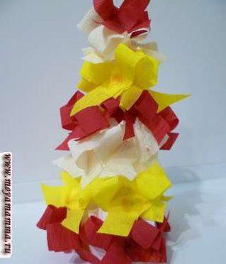 Идеи украшения поделок новогодних елок из бумаги