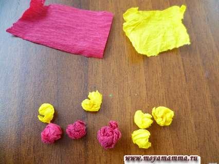 изготовление бумажных шариков для украшения елки
