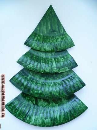 Глянцевая темно-зеленая елка