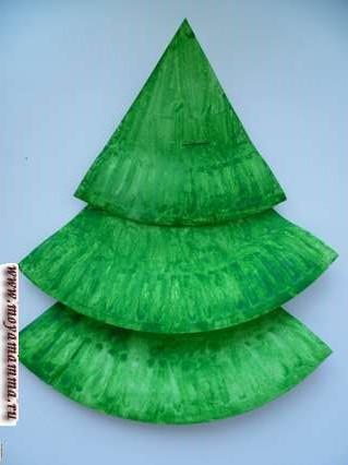 трехярусная бумажна елка