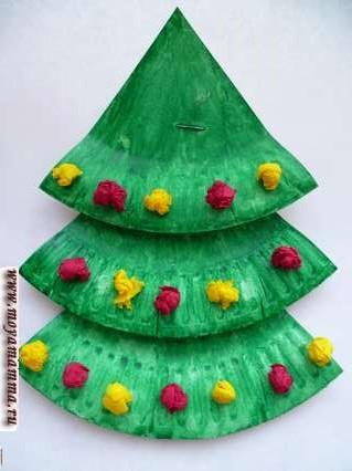 нарядная елка из бумаги
