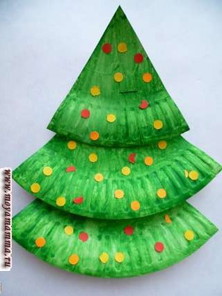 елка с конфетти