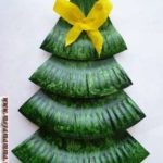 елка из бумажных тарелок