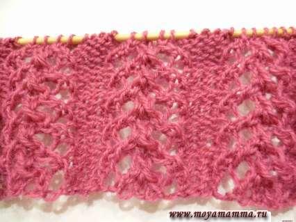 ажур для шарфа 3
